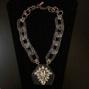 BAUBLEBAR chunky clear acrylic chain & rhinestones